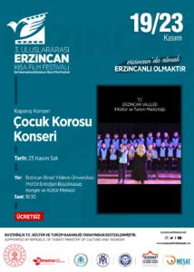 T.C. Erzincan Valiliği İl Kültür ve Turizm Müdürlüğü Amatör Çok Sesli Çocuk Korosu